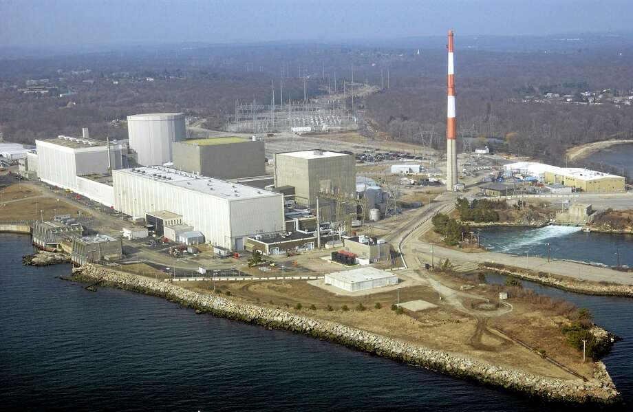 This March 18, 2003, aerial file photo shows the Millstone nuclear power facility in Waterford. Photo: Steve Miller — THE ASSOCIATED PRESS   / AP