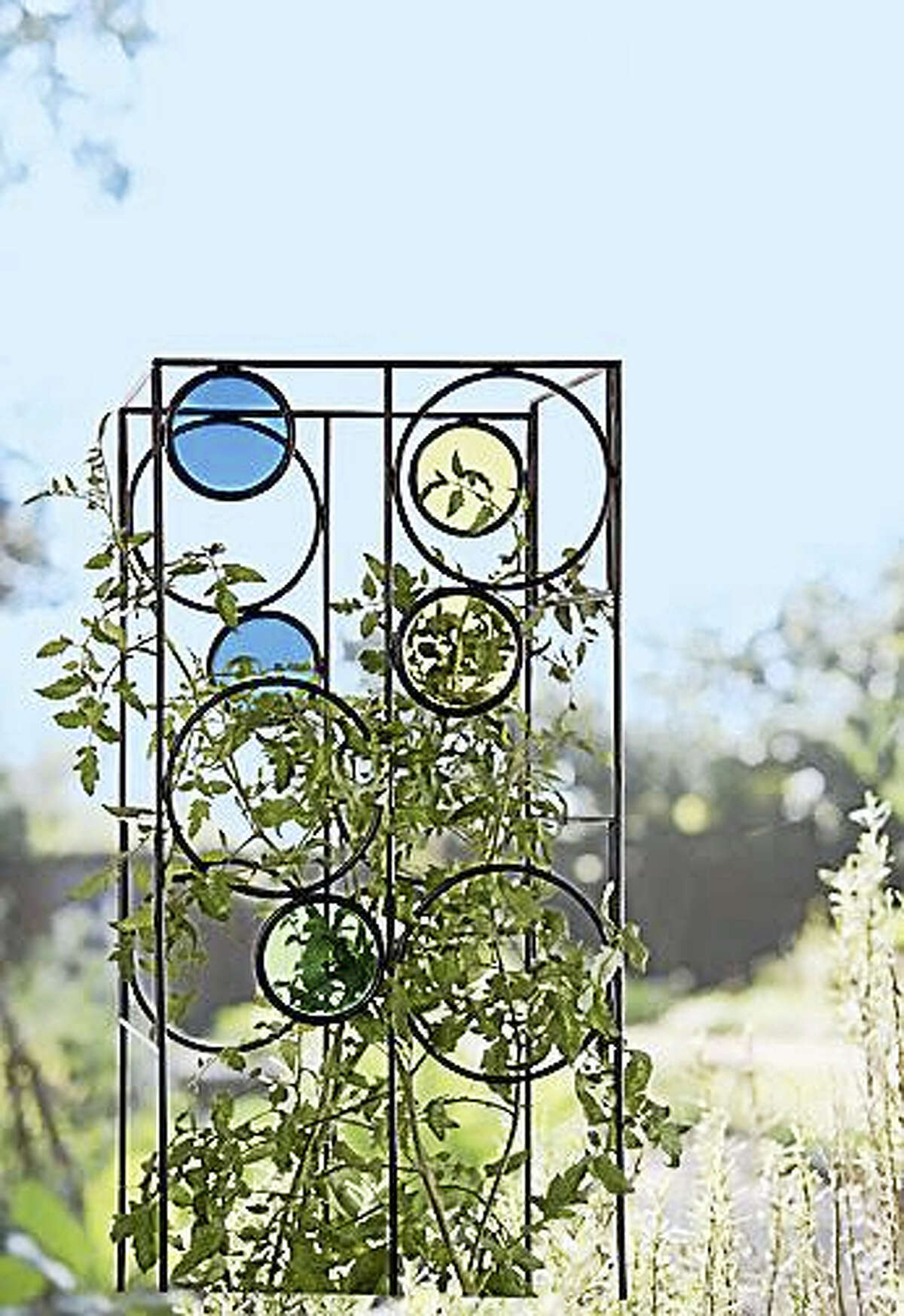 The Kaleidoscope Tomato Cage.