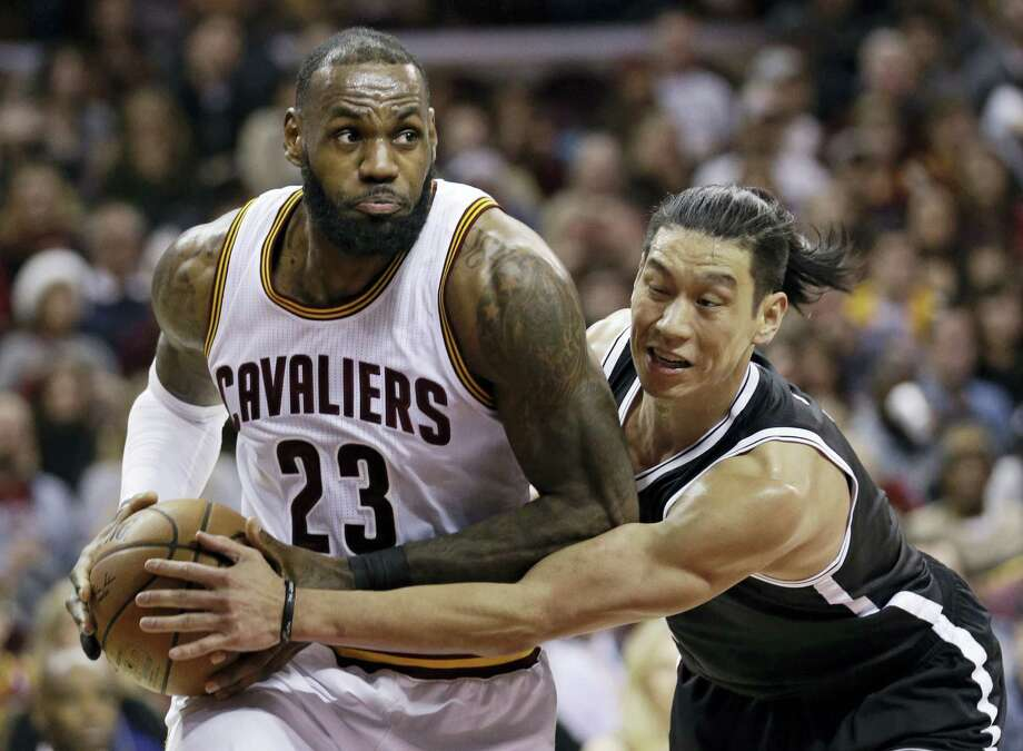Cleveland Cavaliers' LeBron James (23) drives against Brooklyn Nets' Jeremy Lin (7) in the second half of an NBA basketball game, Friday in Cleveland. Photo: Tony Dejak — The Associated Press   / AP 2016