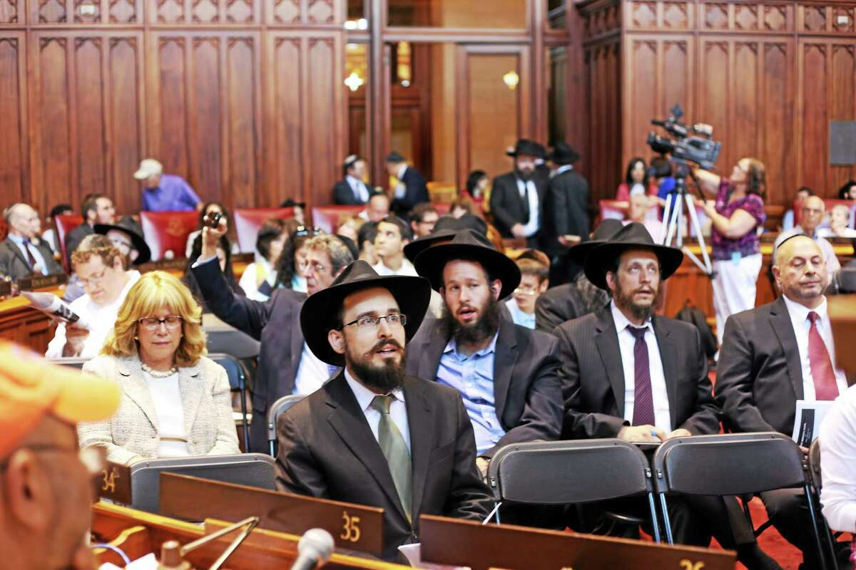 A tribute to the Rebbe, Rabbi Menachem Mendel Schneerson, was held in 2014 at the State Capitol in Hartford