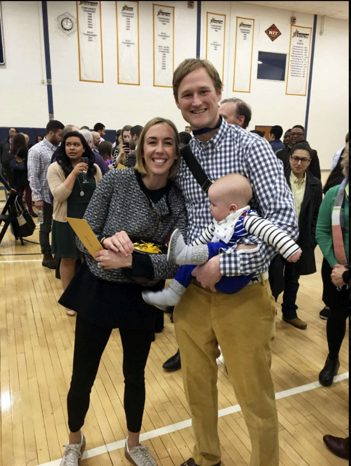 Abigail Gurall, husband, Ford, and son, Jack, on Match Day, when graduating medical students found out what residency program and speciality they were matched to.