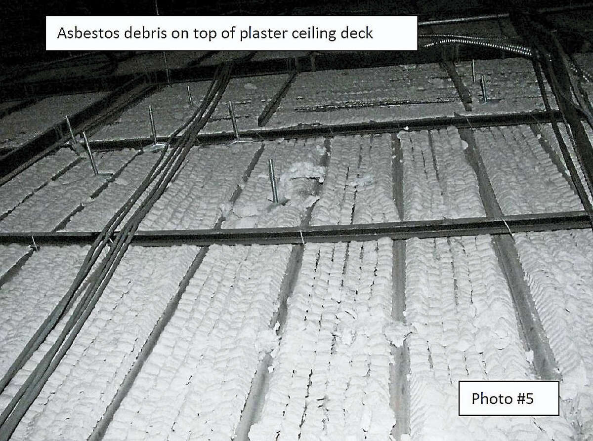 Photo from the report on asbestos inspection by Dunn environmental Inspections Inc. on West Haven High School.