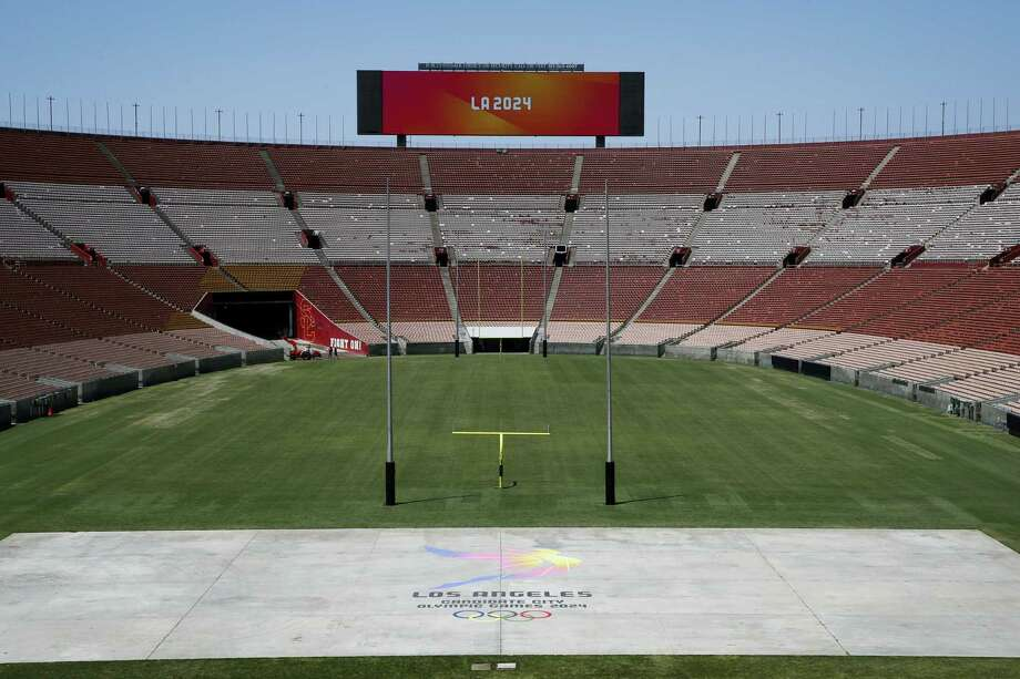 A general view of the Los Angeles Memorial Coliseum, Los Angeles 2024's proposed ceremonies and track-and-field venue. Photo: Jae C. Hong — The Associated Press   / Copyright 2017 The Associated Press. All rights reserved.