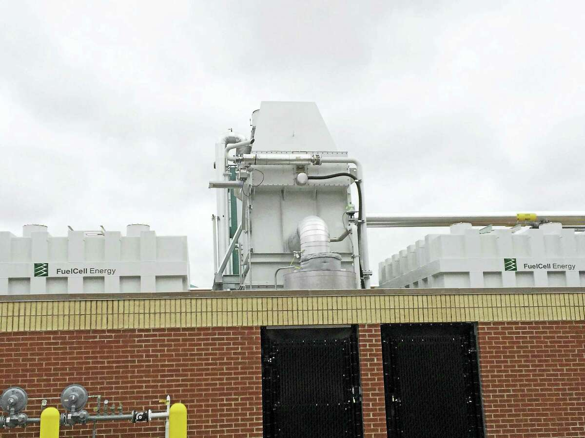 The fuel cell at Amity Regional High School in Woodbridge.