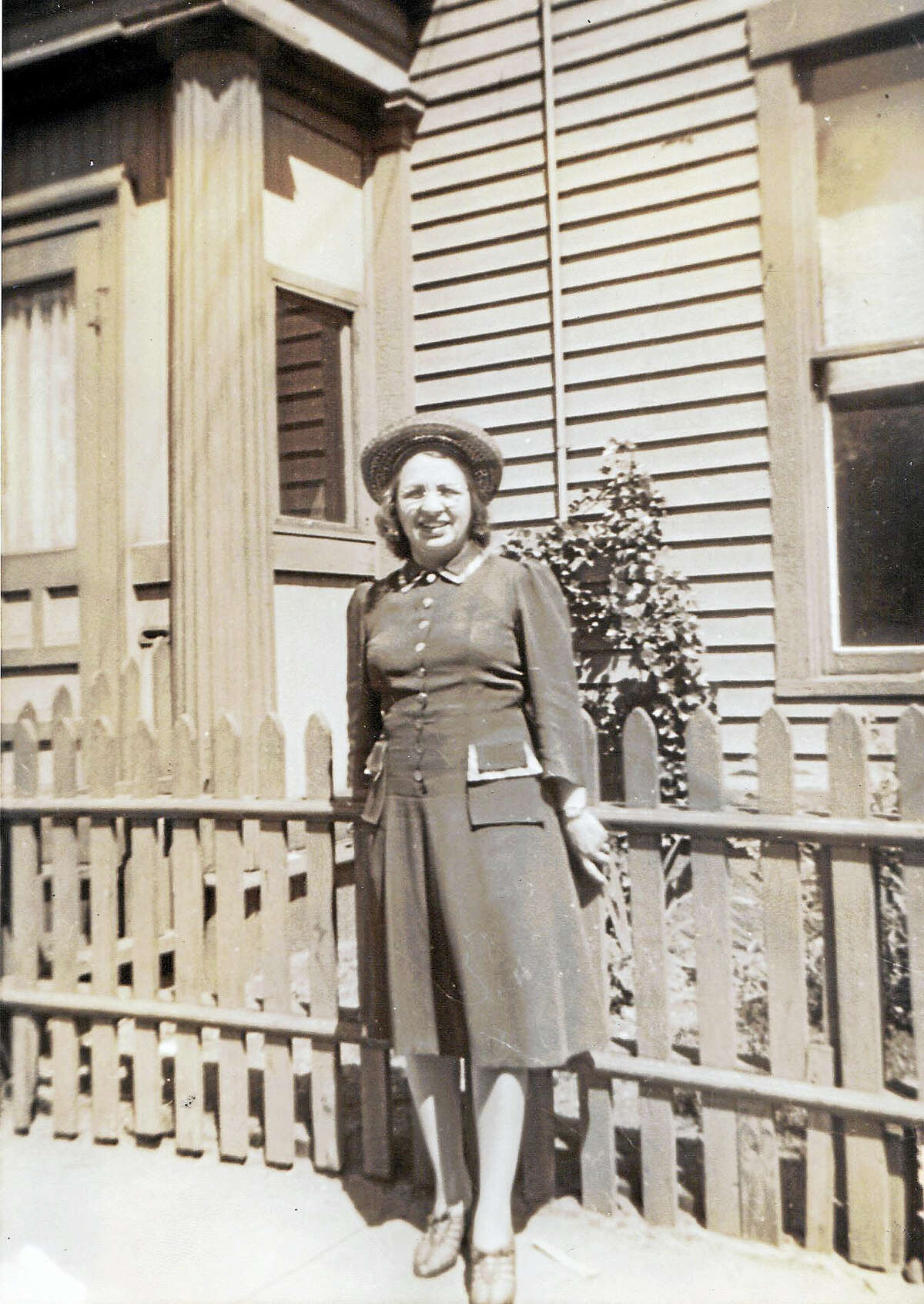 Photo courtesy Richard BiondoTeresa Falcigno, the daughter of immigrants of Amalfi, acted as owner, salesperson, and bookkeeper of four-story Teresa Furniture on Grand Avenue. Photo taken in the 1940s.