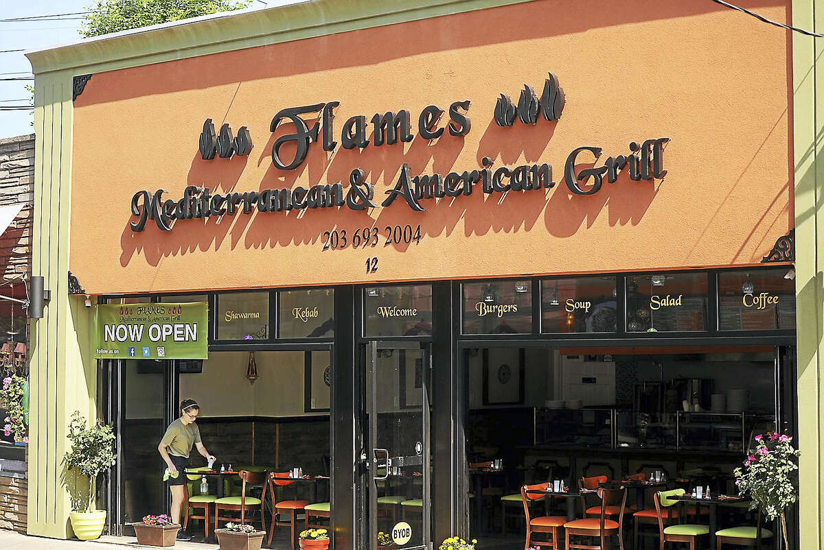 The new restaurant Flames Mediterranean & American Grill at 12 Daniel St. in Milford Tuesday.