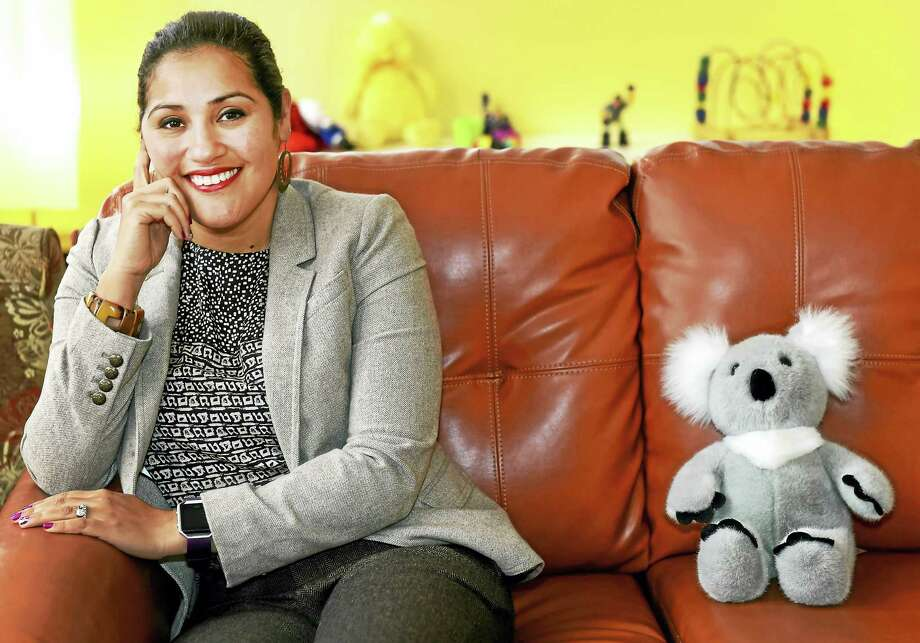 Maysha Akbar, Ph.D., an adolescent and child clinical psychologist and Chief Executive Officer of Integrated Wellness Group in New Haven, addresses urban trauma among children of color and focuses on at-risk children and adolescents. Photo: Peter Hvizdak — New Haven Register   / ©2017 Peter Hvizdak