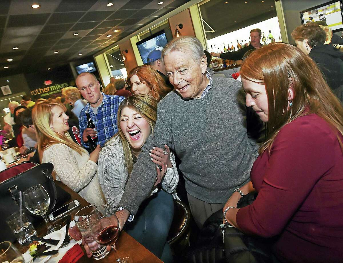 "The members of the cast of Stand Up and Speak Out, ""Her Song,"" an anti-bullying musical gather at Pledge to Stop Bullying fundraiser, at Brother Mike's Restaurant and Bar at 56 Academy Road in Madison. The performances are May 13 and May 14 at the Ivoryton Playhouse in Ivoryton. The musical is produced by four-time Emmy nominated songwriter Jill Nesi, directed by Colin Sheehan, choreographed by Michelle Natalino and music composition by Nick Fradiani Sr. and Jill Nesi. (Catherine Avalone/New Haven Register)"