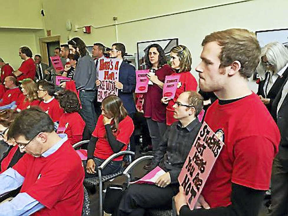 Meeting Thursday at Board of Regents headquarters in Hartford was packed. Photo: Jack Kramer — Ctnewsjunkie