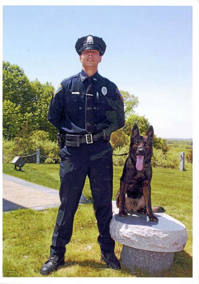 Detective Christopher Nugent and Jager Photo: Photo Courtesy Shelton Police