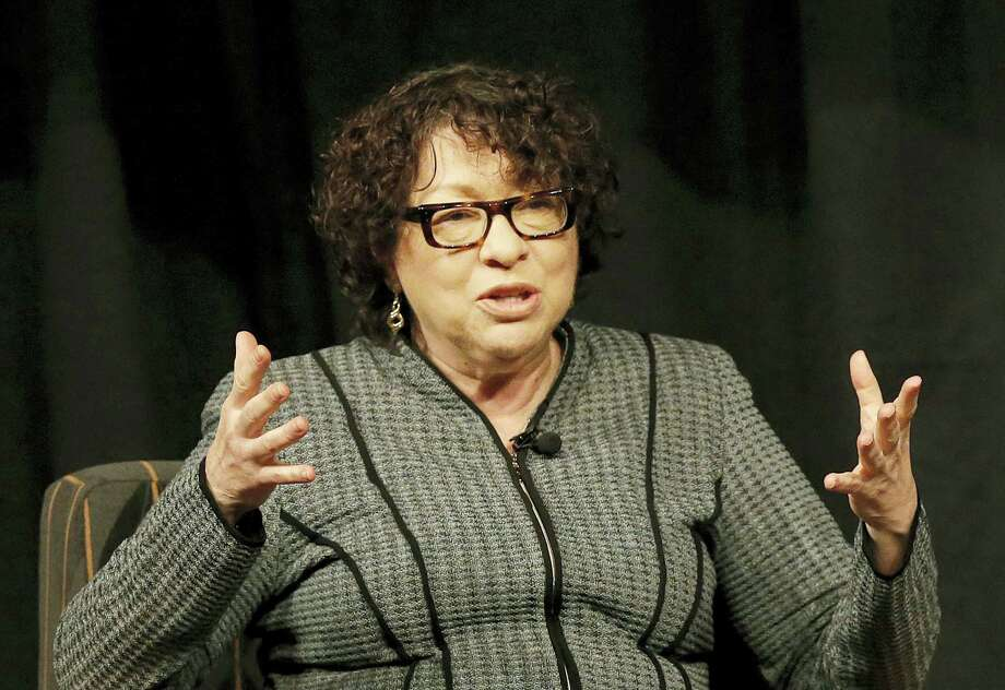 Jeff Chiu — the associated press   Supreme Court Justice Sonia Sotomayor speaks at San Jose State University in San Jose, Calif. Photo: AP / AP Pool