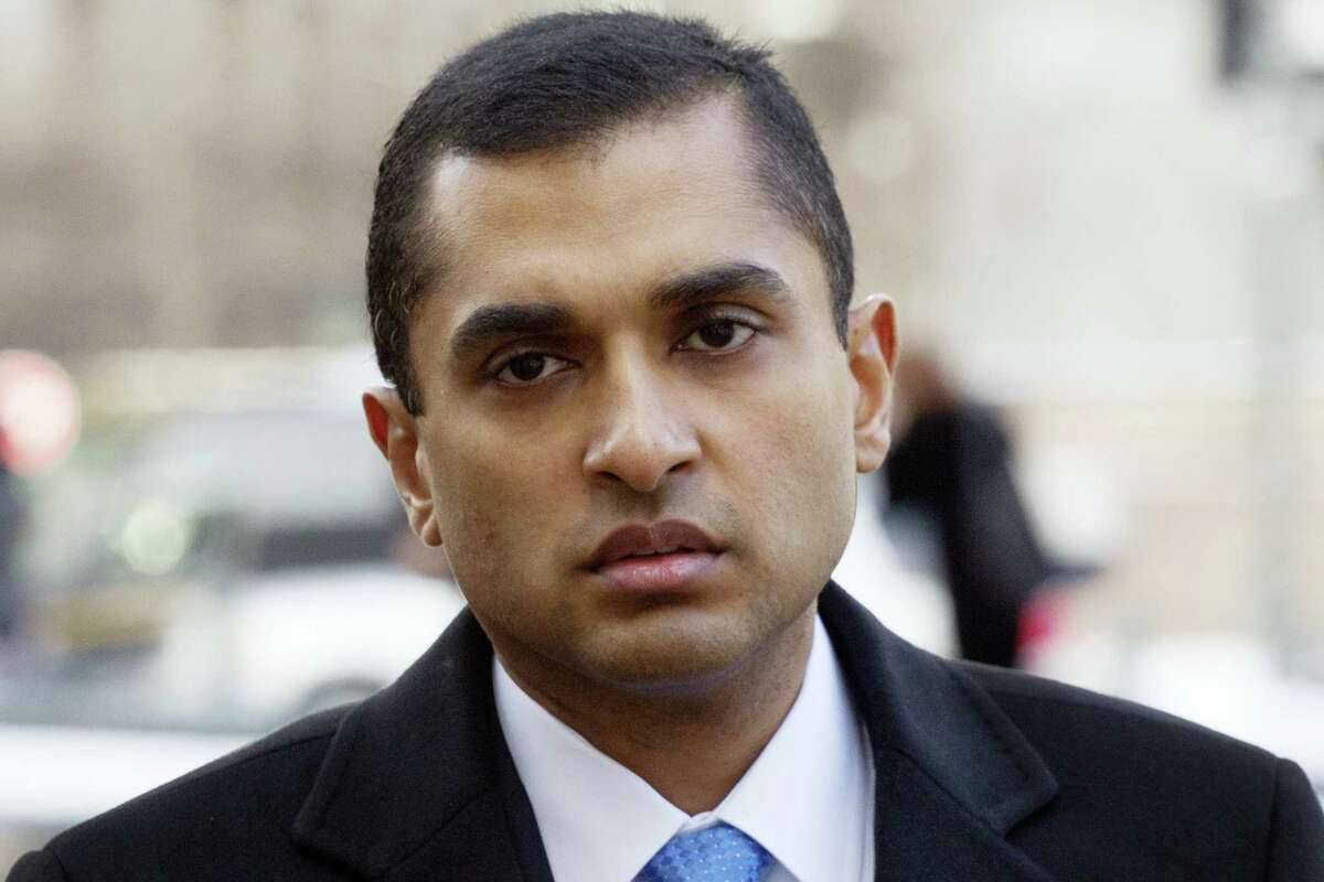 In this Feb. 6, 2014 photo, Mathew Martoma, a former SAC Capital portfolio manager, arrives at federal court in New York. Attorney Paul Clement asked the 2nd U.S. Circuit Court of Appeals in Manhattan on May 9, 2017 to reverse the 2014 conviction of Martoma, who is serving a nine-year prison sentence after his conviction on securities fraud and conspiracy charges.