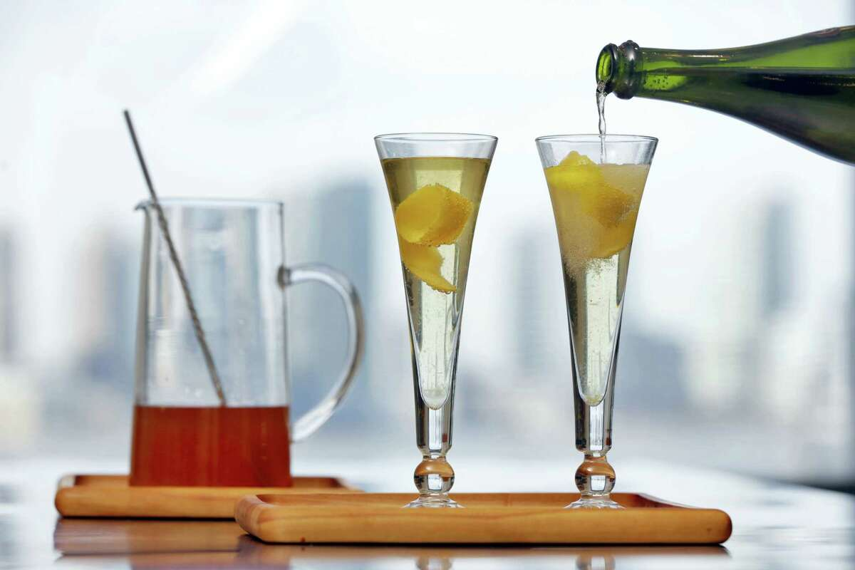 French 75 cocktails.