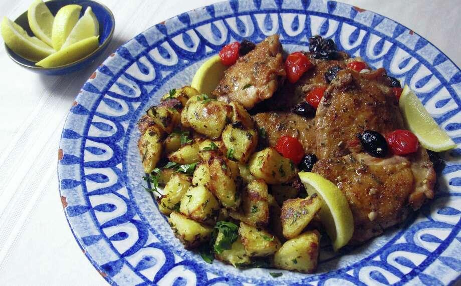 Greek-style roasted lemon potatoes. Photo: Sara Moulton Via AP   / Sara Moulton