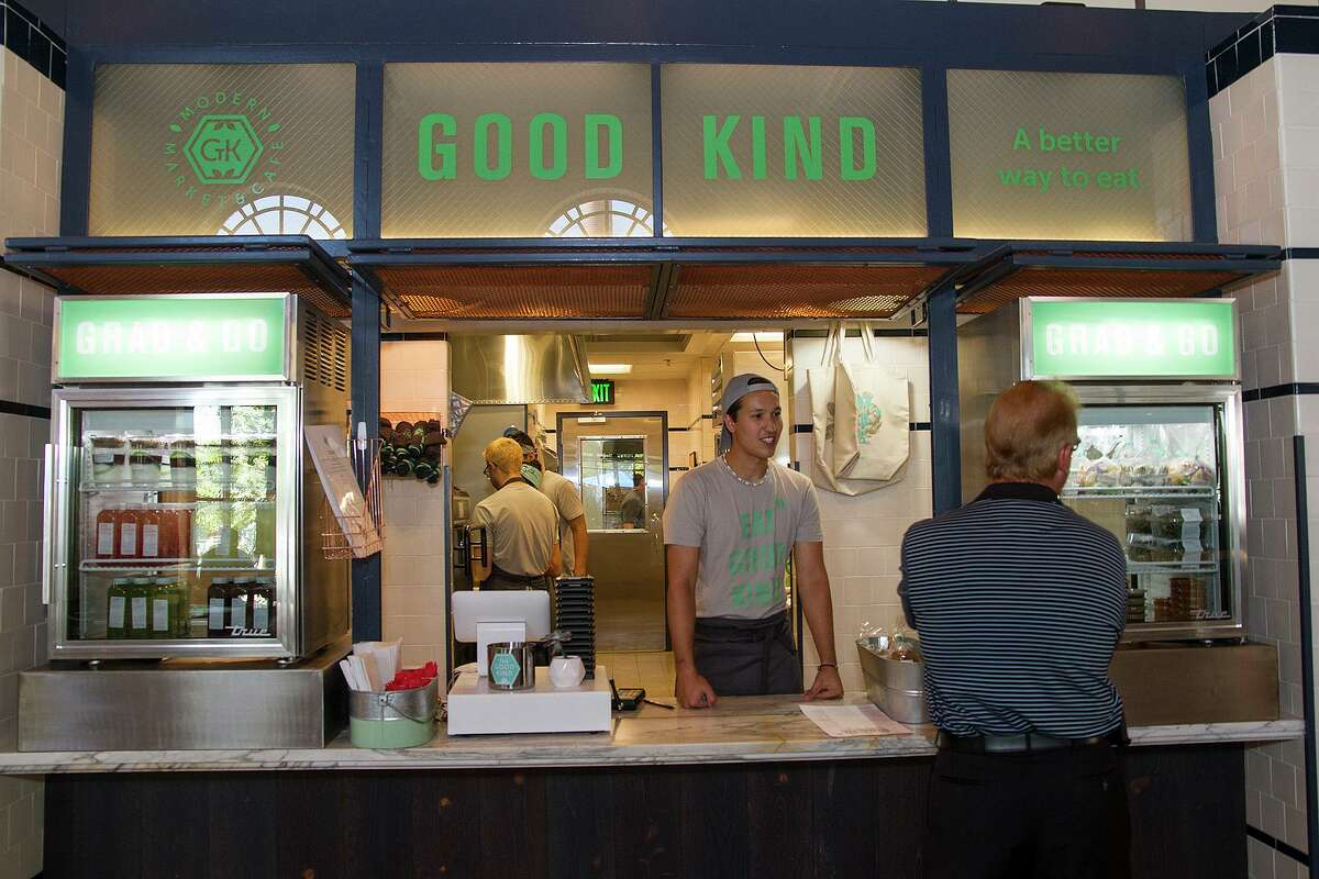 The Good Kind, serves fresh market bowls with black rice, fresh add-ins, grab-and-go salads and sandwiches and breakfast at The Bottling Department, a food hall at The Pearl.