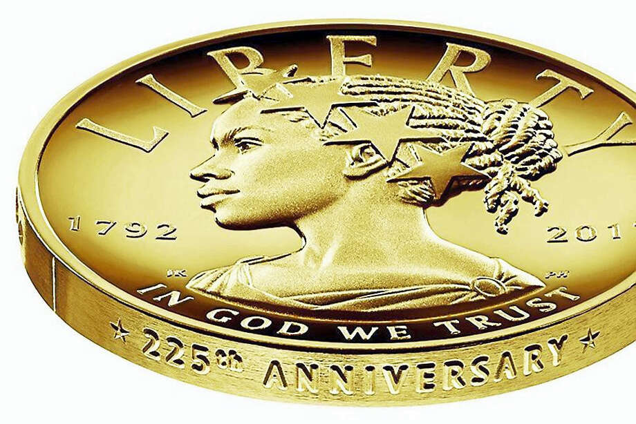 This undated handout image provided by the U.S. Mint shows the design for the 2017 American Liberty 225th Anniversary Gold Coin. The coin is worth $100. Photo: U.S. MINT VIA AP