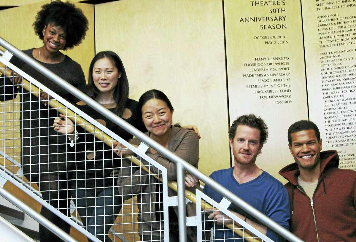From top, Tiffany Nichole Greene, Ka-Ling Cheung, Desdemona Chiang, Peter O'Connor and Sullivan Jones.