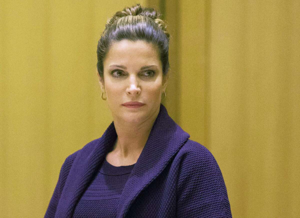 In this April 4, 2016, file photo, Stephanie Seymour appears Superior Court in the Stamford, Conn., for a hearing on her February 2016 drunken driving charges. On Tuesday, April 4, 2017, charges were dropped after the former supermodel completed a year-long program for first-time offenders.