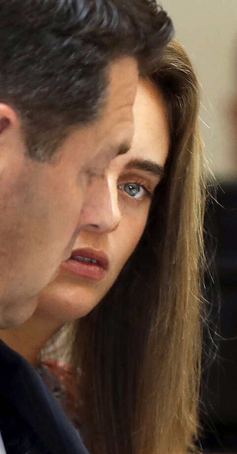 Michelle Carter sits with her defense attorney Joe Cataldo  during cross examination of defense witness Dr. Peter Breggin (not seen) during her trial at Taunton Juvenile Court in Taunton, Mass., Tuesday, June 13, 2017. Carter is charged with involuntary manslaughter for encouraging Conrad Roy III to kill himself in July 2014. Photo: Pat Greenhouse/The Boston Globe Via AP, Pool   / Pool The Boston Globe