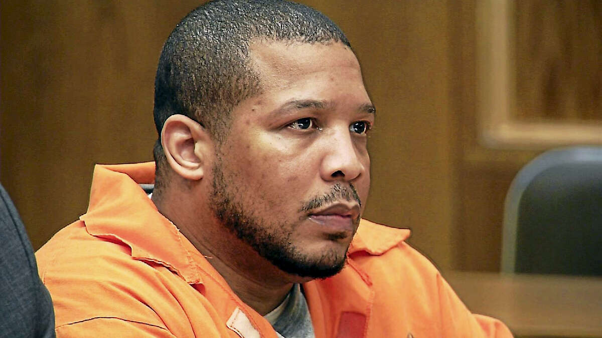 Lamont Edwards at his sentencing in New Haven.