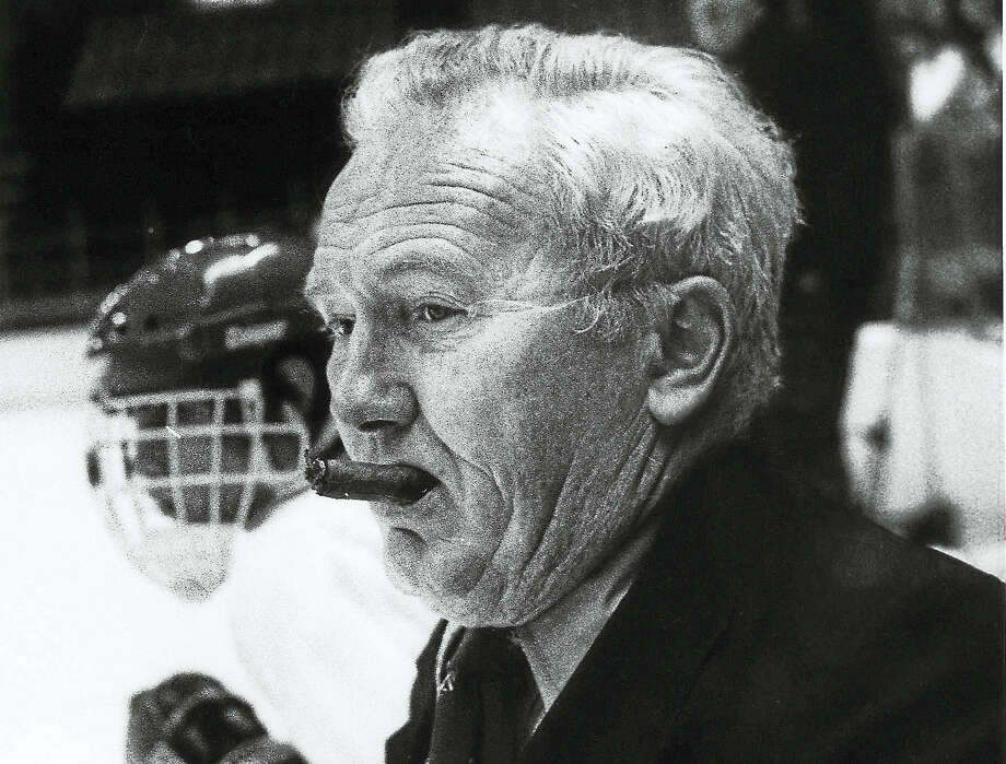 Longtime Wilbur Cross hockey coach Red McDonough died Sunday at the age of 86. Photo: Register File Photo
