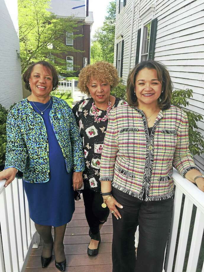From left, Girl Friends®, Inc. anniversary luncheon co-chairwomen Diane Turner and Mycki Jennings,  and Shuana Tucker, president of the New Haven chapter of Girl Friends Inc. Photo: Photo Contributed By Girl Friends®, Inc., New Haven Chapter