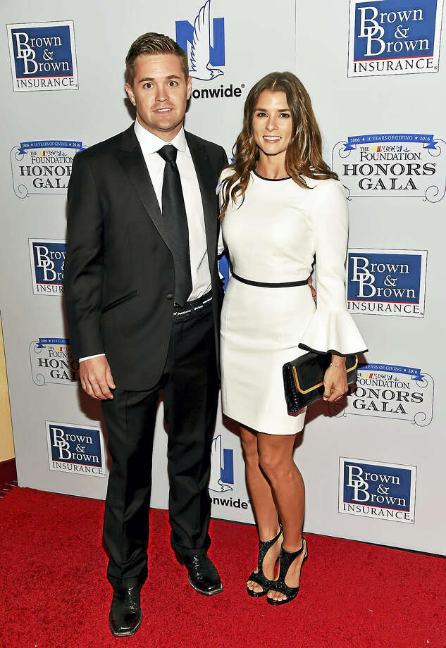 NASCAR drivers Ricky Stenhouse Jr. and Danica Patrick attend a 2016 gala in New York. Photo: The Associated Press File Photo   / ?2016 Evan Agostini