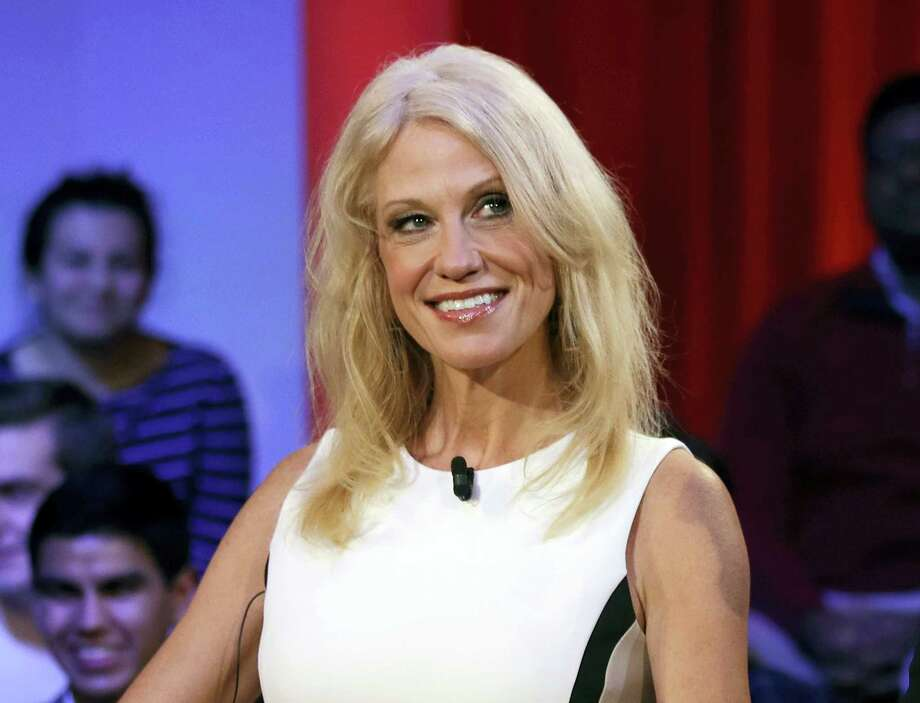 """This Dec. 1, 2016, file photo shows Kellyanne Conway prior to a forum at Harvard University's Kennedy School of Government in Cambridge, Mass. Media outlets are more aggressively fact-checking political statements. A separate fact check on Conway's false claim of a Bowling Green """"massacre"""" on Thursday was the most-read story on the APNews.com web site Friday. Photo: AP Photo/Charles Krupa, File    / Copyright 2017 The Associated Press. All rights reserved."""