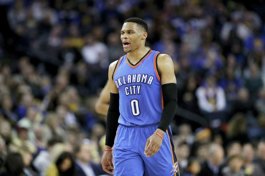 Oklahoma City Thunder guard Russell Westbrook. Photo: Marcio Jose Sanchez — The Associated Press   / Copyright 2017 The Associated Press. All rights reserved.