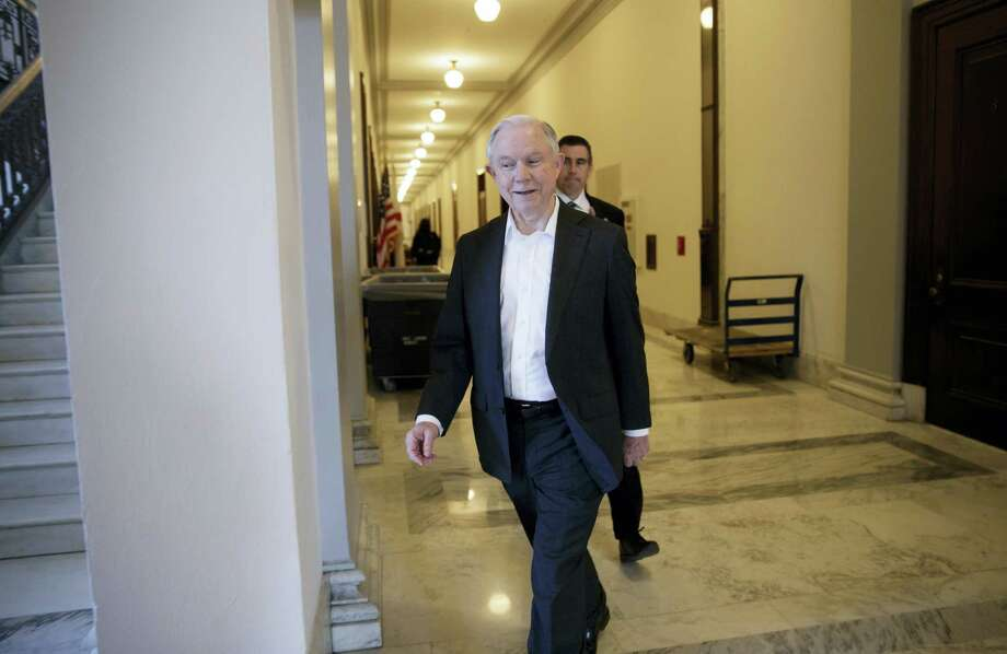 Attorney General-designate, Sen. Jeff Sessions, R-Ala., leaves his office on Capitol Hill in Washington on Wednesday. Photo: J. Scott Applewhite — AP Photo / AP