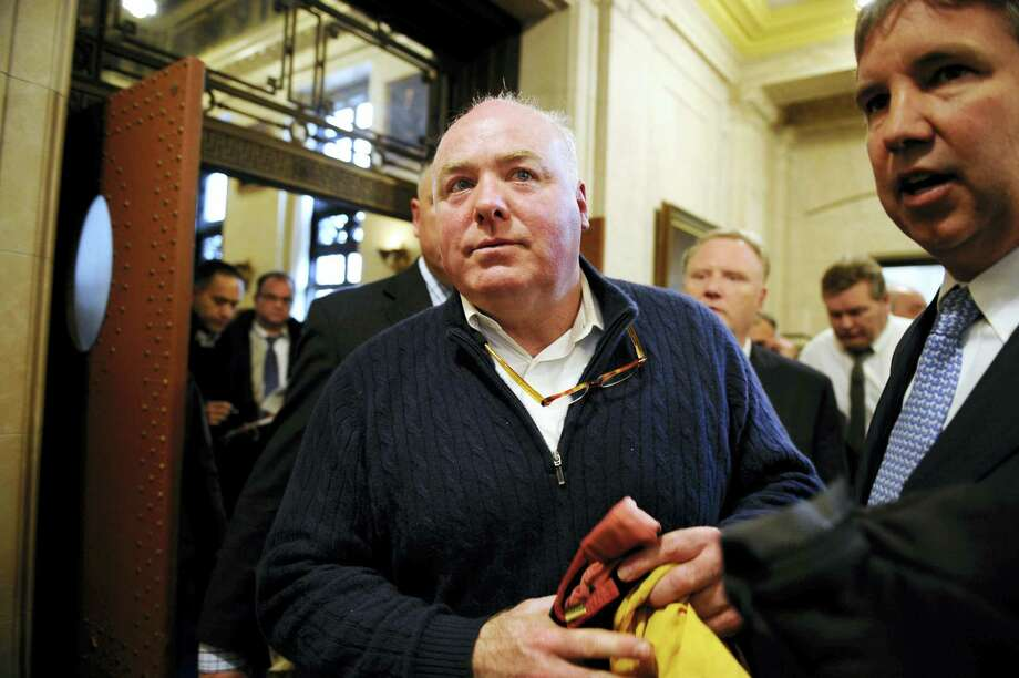 Michael Skakel leaves the state Supreme Court after his hearing on Feb. 24, 2016 in Hartford, Conn. State prosecutors asked the state Supreme Court to reinstate the 2002 murder conviction against Kennedy cousin Skakel in the bludgeoning death of Martha Moxley when they were teenage neighbors in wealthy Greenwich. Photo: AP Photo — Jessica Hill   / FR125654 AP