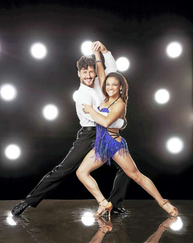 Val Chmerkovskiy and Laurie Hernandez are slated to perform at Mohegan Sun Arena. Photo: Photo Courtesy Of Craig Sjodin/ABC   / © 2016 American Broadcasting Companies, Inc. All rights reserved.