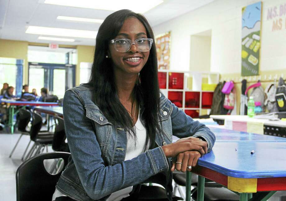 The Sound School senior and New Haven Boys & Girls Club Youth of the Year Z'hane Ellison inside the organization's clubhouse on Columbus Avenue. Photo: Esteban L. Hernandez — New Haven Register