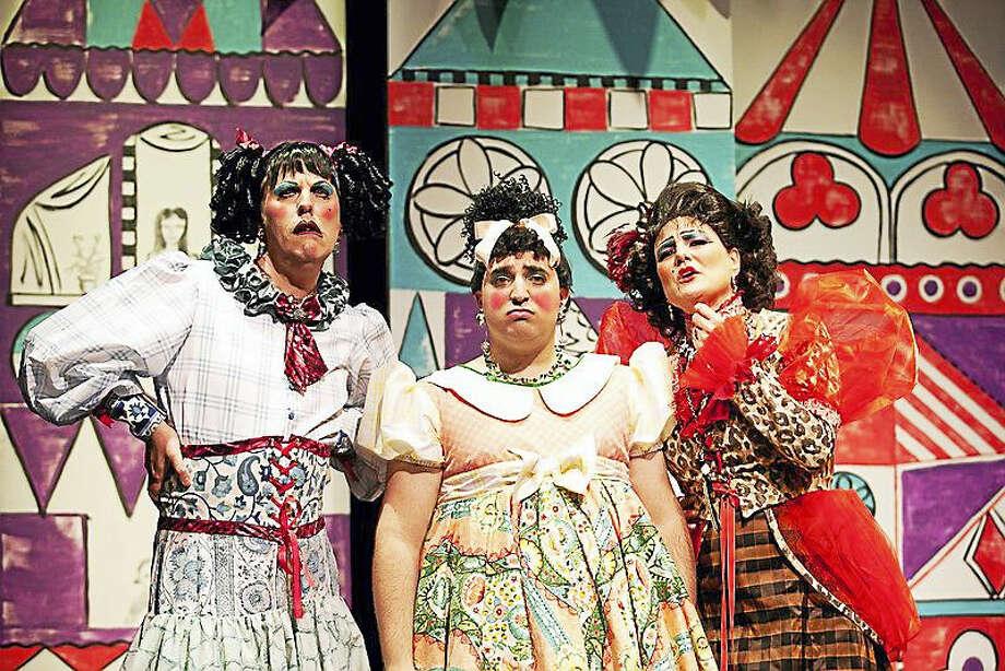 "From left, Jimmy Johansmeyer, Jeremy Tortora and Shelley Marsh Poggio perform in Pantochino Productions' ""Cinderella Italiano."" Photo: CONTRIBUTED PHOTO — Bert Bernardi"