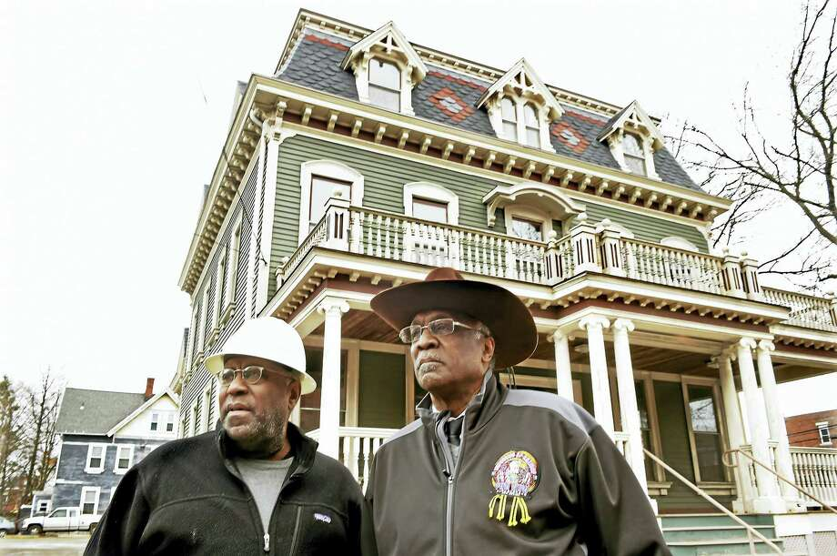 Larry M. Stewart, a volunteer construction manager and James Rawlings, Chairman of the Sickle Cell Disease Association of America / Southern Connecticut in front of the 1389 Chapel Street building in New Haven. The building will house the future offices of the Sickle Cell Disease Association of America / Southern Connecticut. Photo: Peter Hvizdak - New Haven Register   / ©2017 Peter Hvizdak