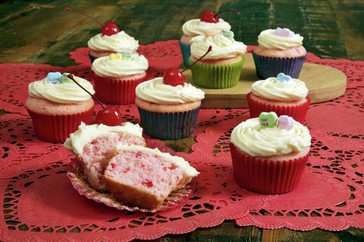 Bake what makes you happy, like cherry cupcakes with orange-bourbon frosting.