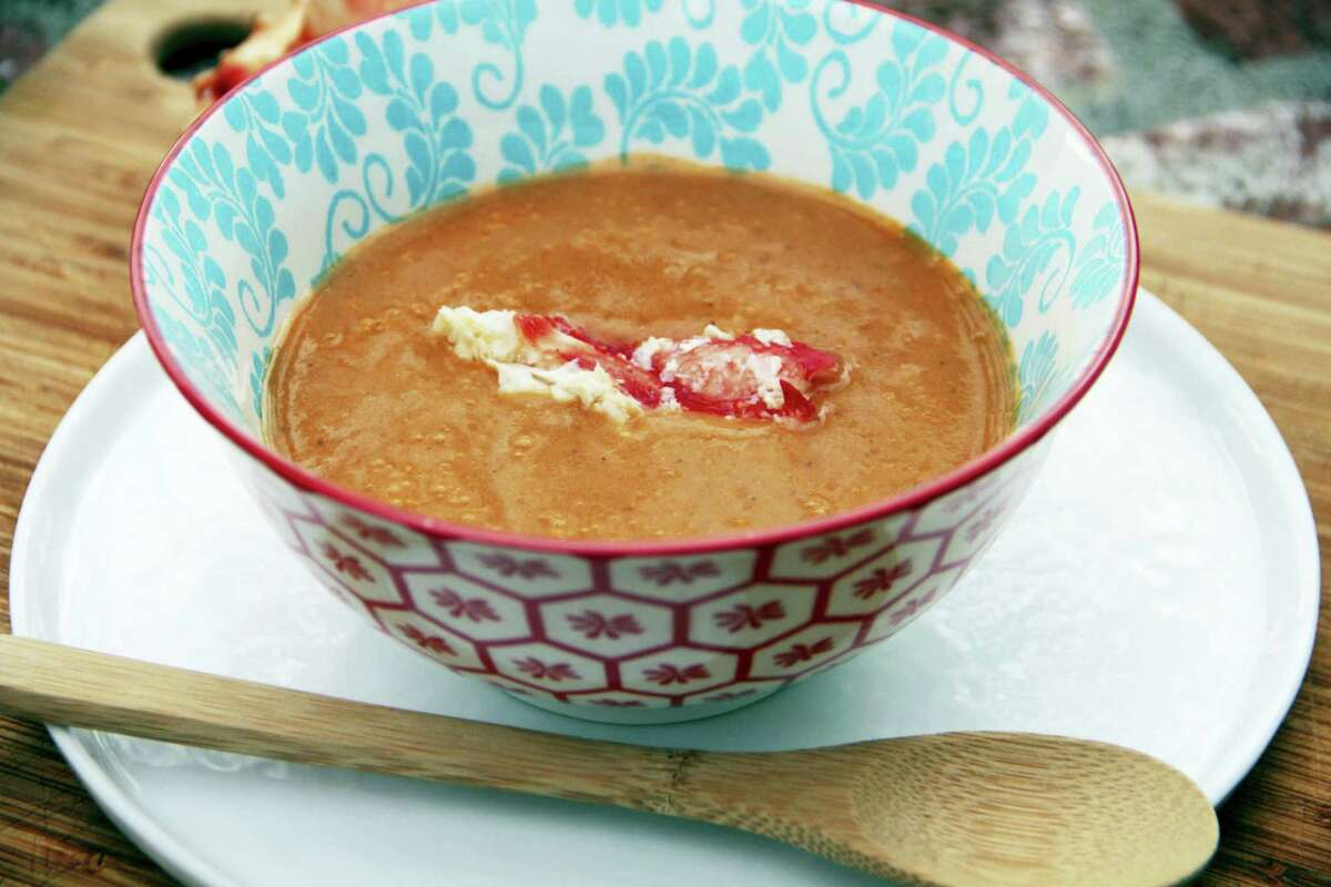 Turn leftover Alaskan king crab legs (and shells) into crab bisque.