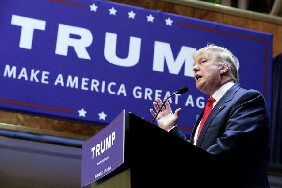 Donald Trump Photo: Richard Drew — THE ASSOCIATED PRESS   / AP