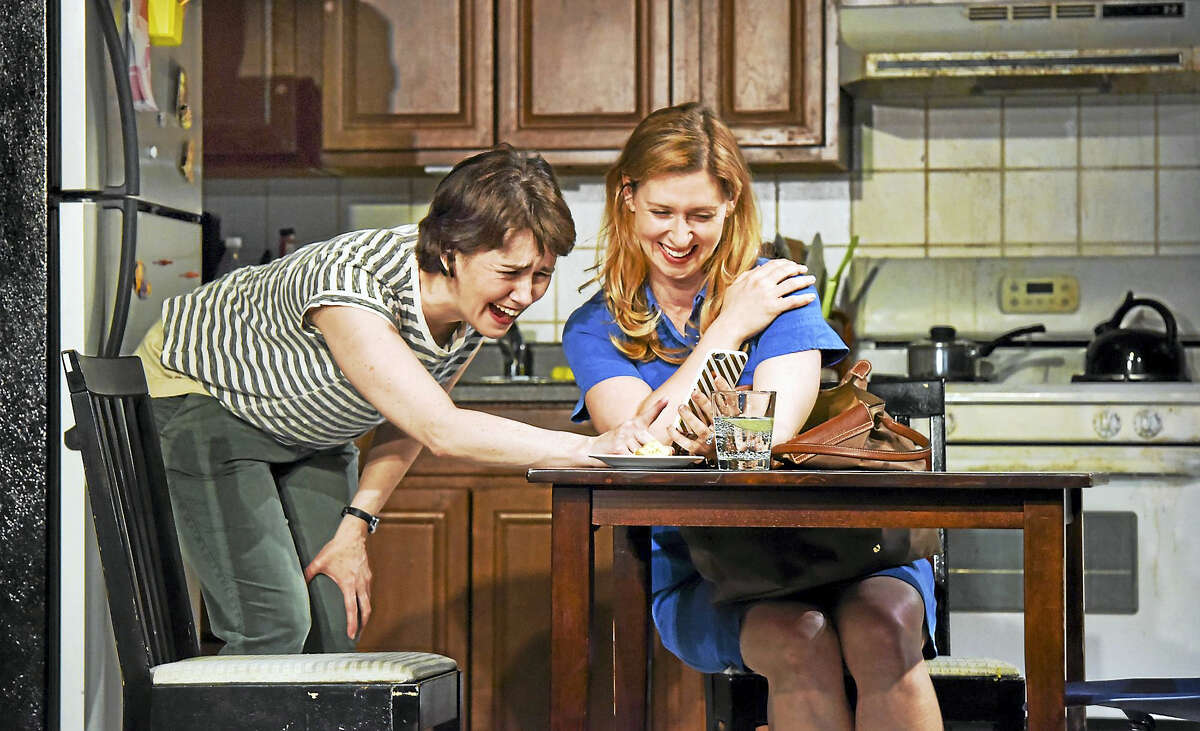 """Emily Donahoe, left, and Miriam Silverman in Yale Rep's """"Mary Jane."""""""