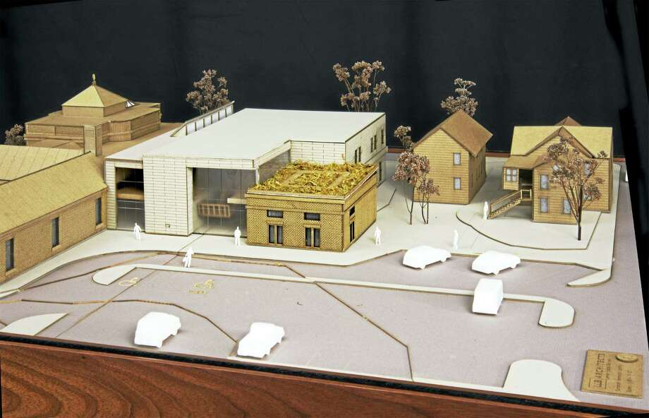 A model of the E.C. Scranton Memorial Library after a $15 million building project. Photo: CONTRIBUTED PHOTO —  Bob Gundersen   / ALL RIGHTS RESERVED