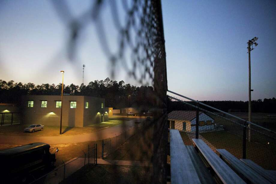 ADVANCE FOR USE MONDAY, MAY 8, 2017 AND THEREAFTER-This Tuesday, Jan. 31, 2017 photo shows the gym, left, at Estill Middle School in Estill, S.C. The school, mired in poverty, stands out as having one of the nation's largest single sexual assault cases reported on school grounds - at least four students, ages 11 to 14, were victimized by as many as 30 kids in 2013. (AP Photo/David Goldman) Photo: AP / Copyright 2017 The Associated Press. All rights reserved.