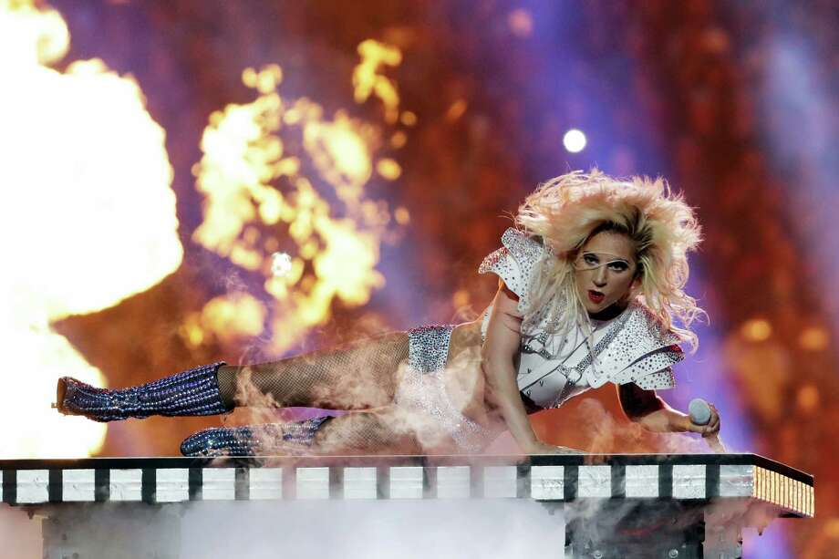 Singer Lady Gaga performs during the halftime show of the NFL Super Bowl 51 football game between the New England Patriots and the Atlanta Falcons on Sunday, Feb. 5, 2017 in Houston. Photo: AP Photo/Matt Slocum   / Copyright 2017 The Associated Press. All rights reserved.