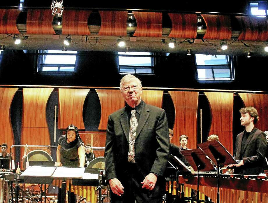 Percussion Director David Smith, a music educator, retires after 47 years of service at Western Connecticut State University. Smith was the longtime principal percussionist for decades the New Haven Symphony Orchestra. Photo: Kathleen Schassler — New Haven Register   / Kathleen Schassler All Rights
