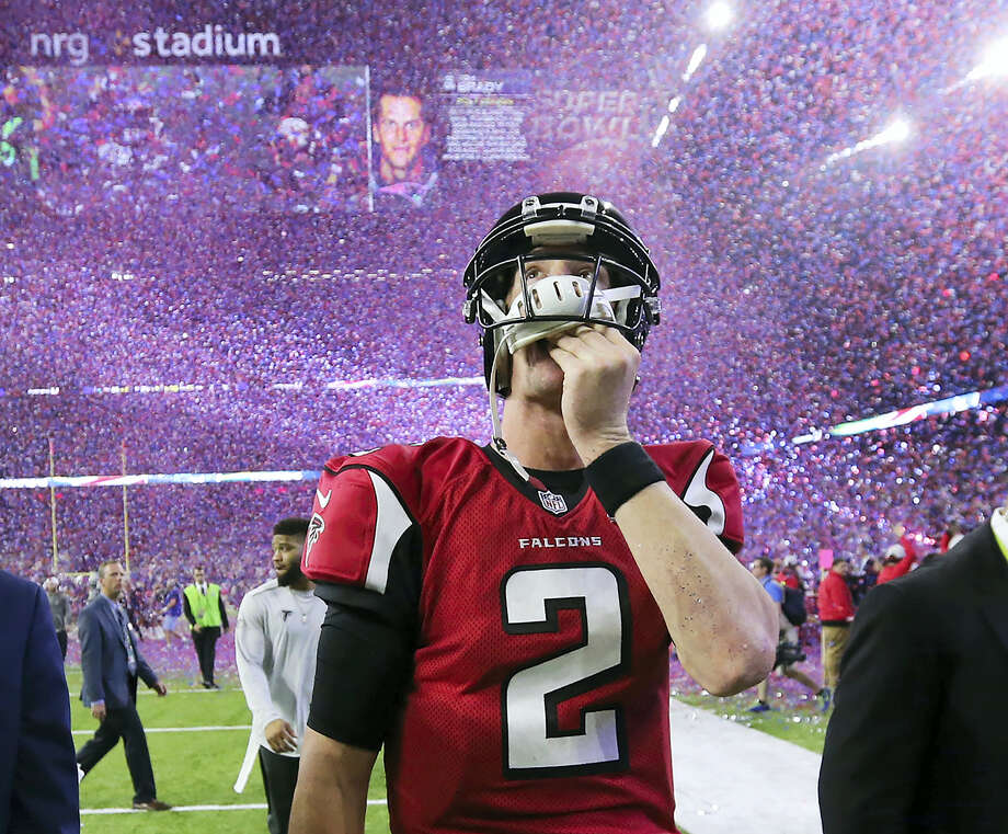 Atlanta Falcons quarterback Matt Ryan reacts after losing Super Bowl 51 on Sunday. Photo: Curtis Compton — Atlanta Journal-Constitution Via AP   / 2017 Atlanta Journal-Constitution