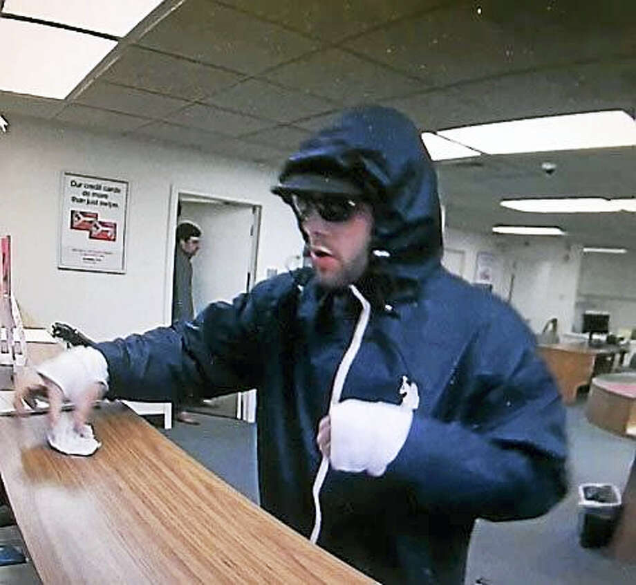 Police are looking for help identifying this man, who is accused of robbing a bank in Westbrook on Friday. Photo: Courtesy Of Connecticut State Police