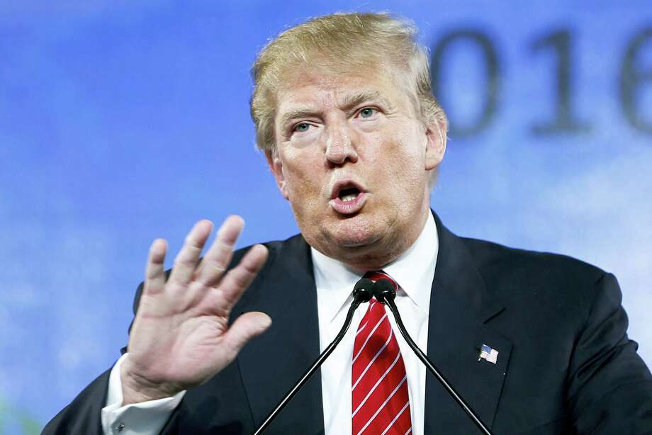 In this 2015 photo, then-Republican presidential candidate Donald Trump speaks at FreedomFest in Las Vegas. Photo: John Locher — AP File Photo / AP