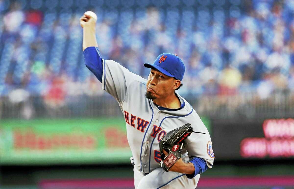 New York Mets relief pitcher Fernando Salas.
