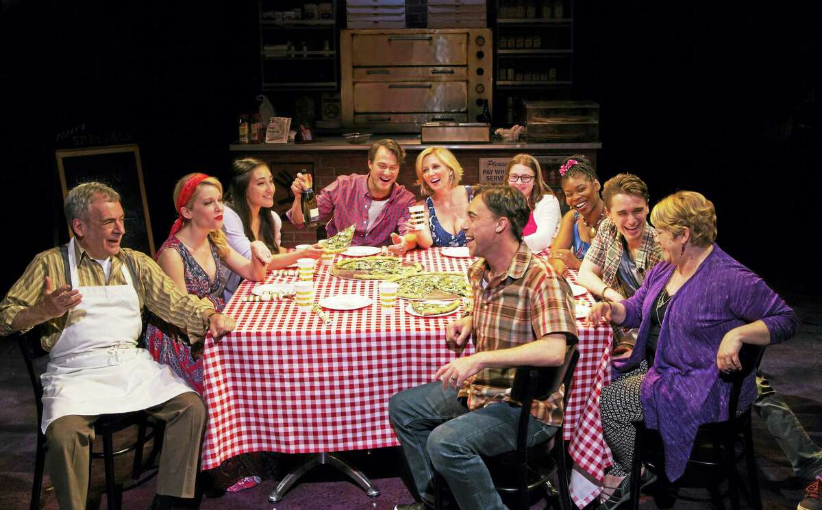 "The cast of ""The Most Beautiful Room in New York"" gathers around the dinner table in one scene."