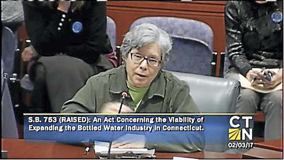 Dr. Valeria Rossetti, of Bloomfield and founder of Save Our Water CT, speaks to the Environment Committee on Friday. Photo: CT-N Screengrab