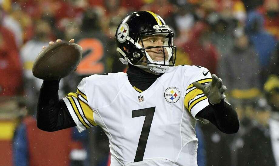 Steelers quarterback Ben Roethlisberger. Photo: Ed Zurga — The Associated Press   / Reed Hoffmann